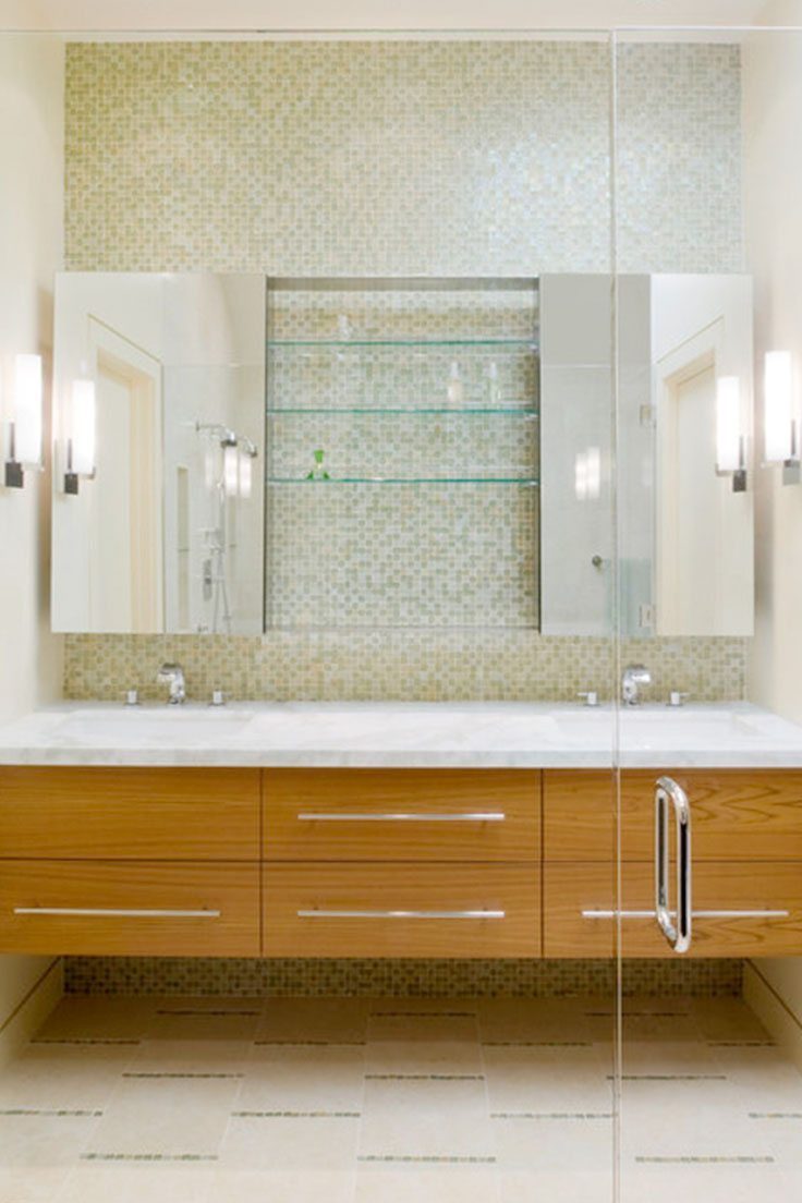 bathroom vanity carpentry mosaic