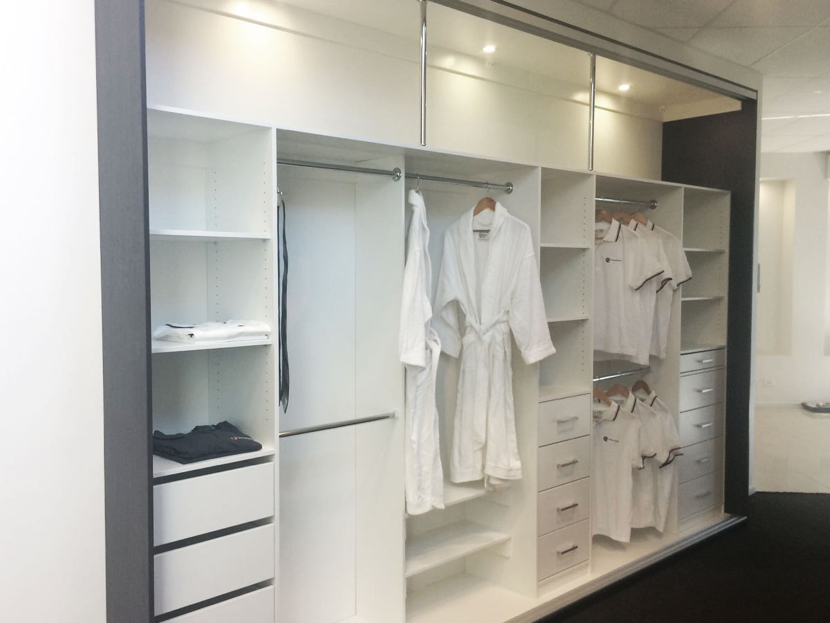 Open white wardrobe design
