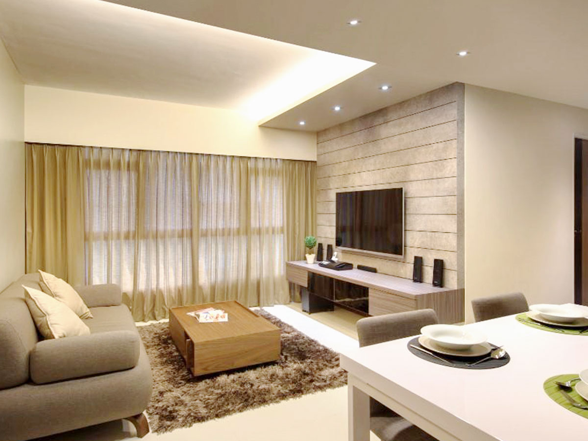 Living Room Modern Feature Wall And Tv Console Carpentry Designs Tan Carpenters